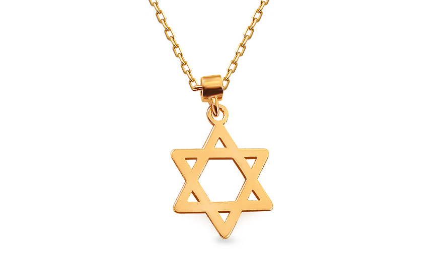 Zlatý náhrdelník V.I.P. Davidova hvězda IZ13234