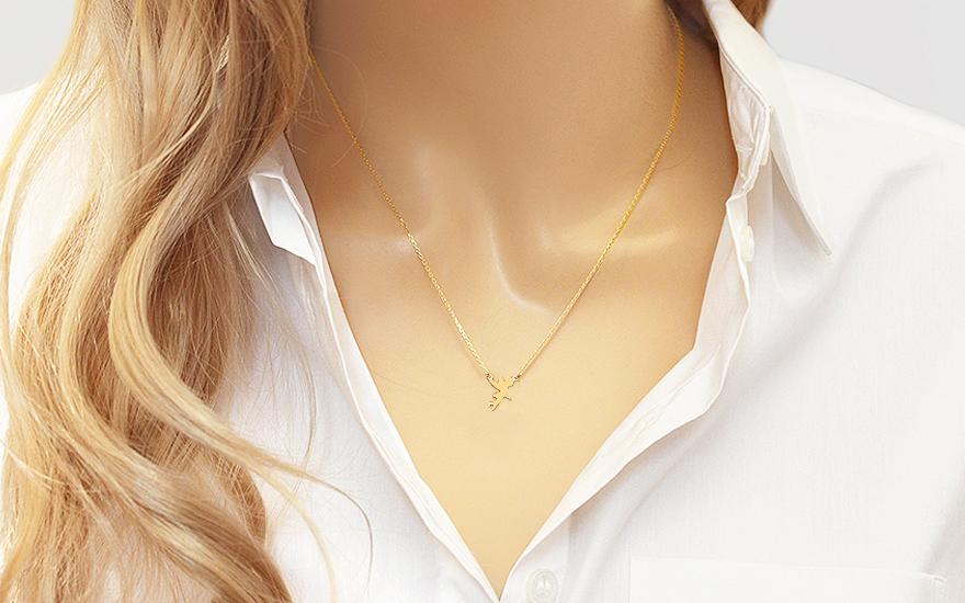 Zlatý náhrdelník víla IZ12459