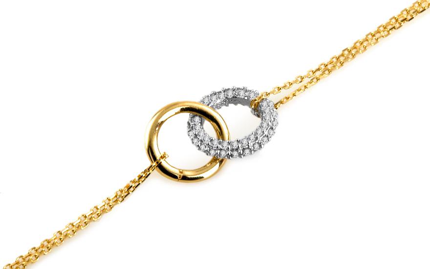 Zlatý náramek Double gold rings IZ6483
