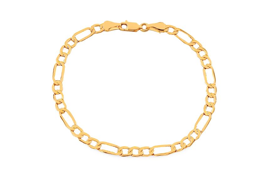 b521dae52 Zlatý náramek Figaro 6,1 mm, pro muže (IZ18080N) | iZlato24.cz