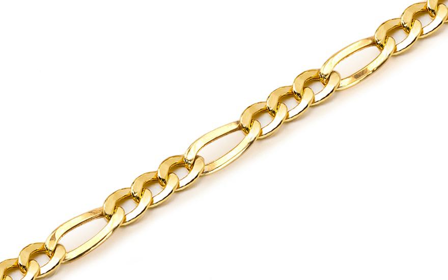 Zlatý pánský náramek Figaro KOBR180