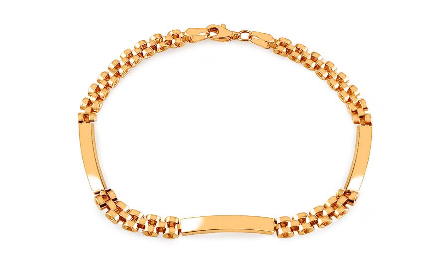 7a162d15c Zlatý pánský náramek s plotýnkami Alberico 2, pro muže (IZ14973 ...