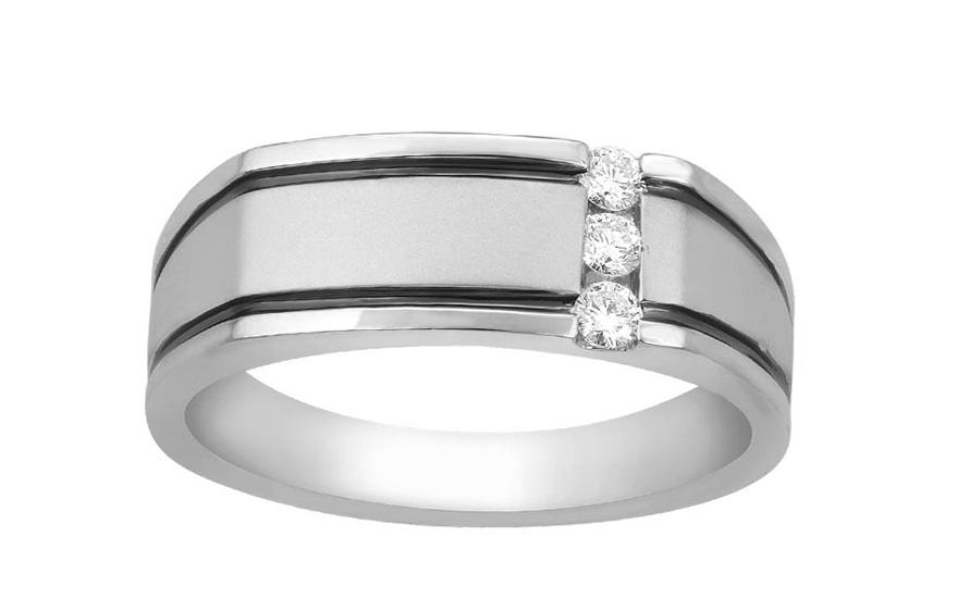 Zlaty Pansky Prsten S Diamanty Pro Muze Ku468 Izlato24 Cz