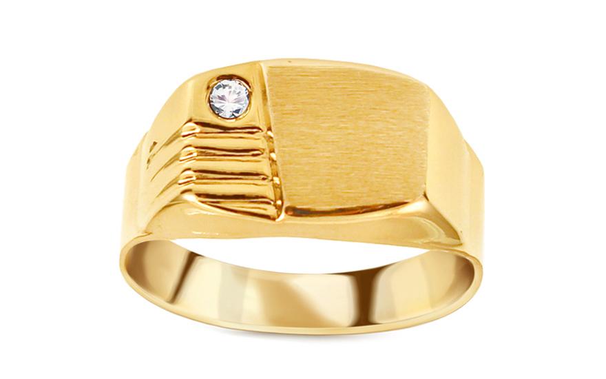 Zlatý pánský prsten se zirkonem IZ11510