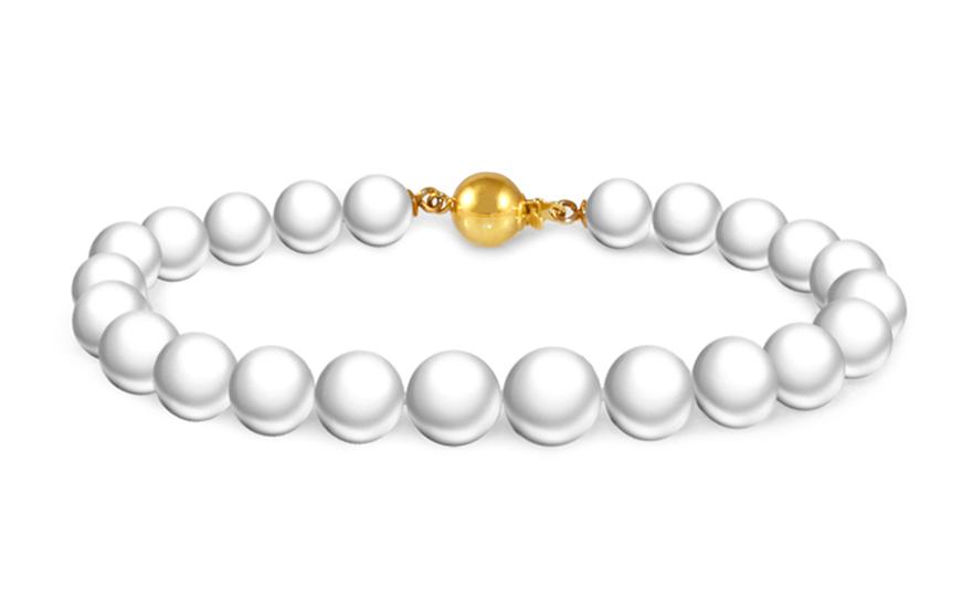 Zlatý perlový náramek Letizia PE130N
