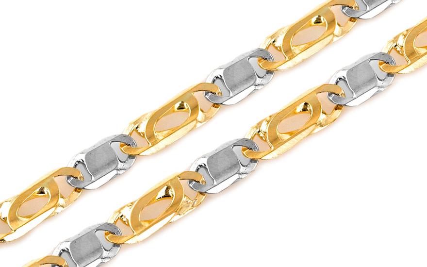 Zlatý plný řetízek Snail - šnek 4 mm IZ7715