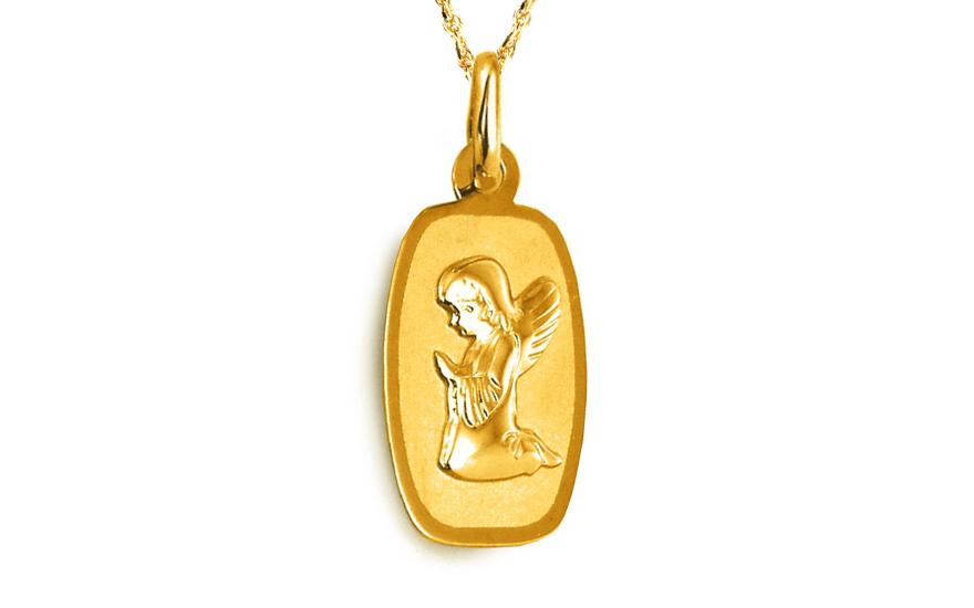 Zlatý přívěsek Anděl IZ8495