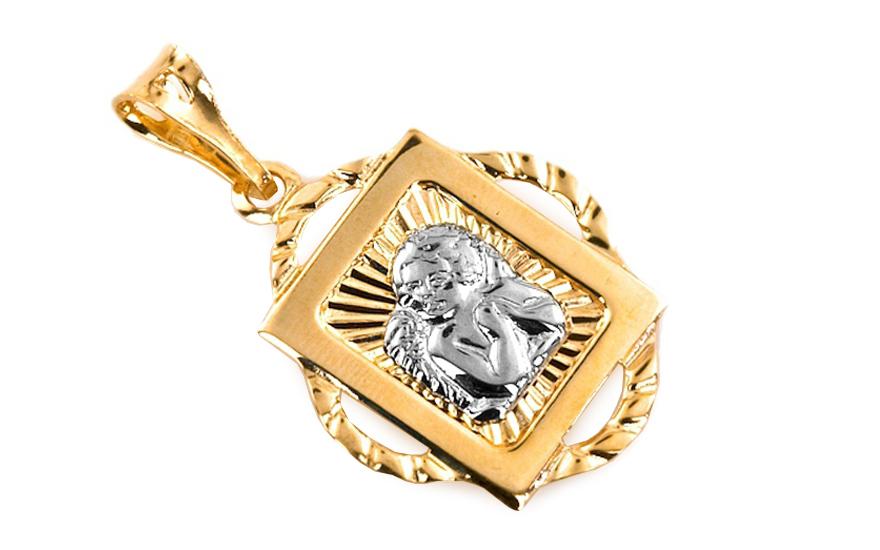 Zlatý přívěsek Andílek IZ6075