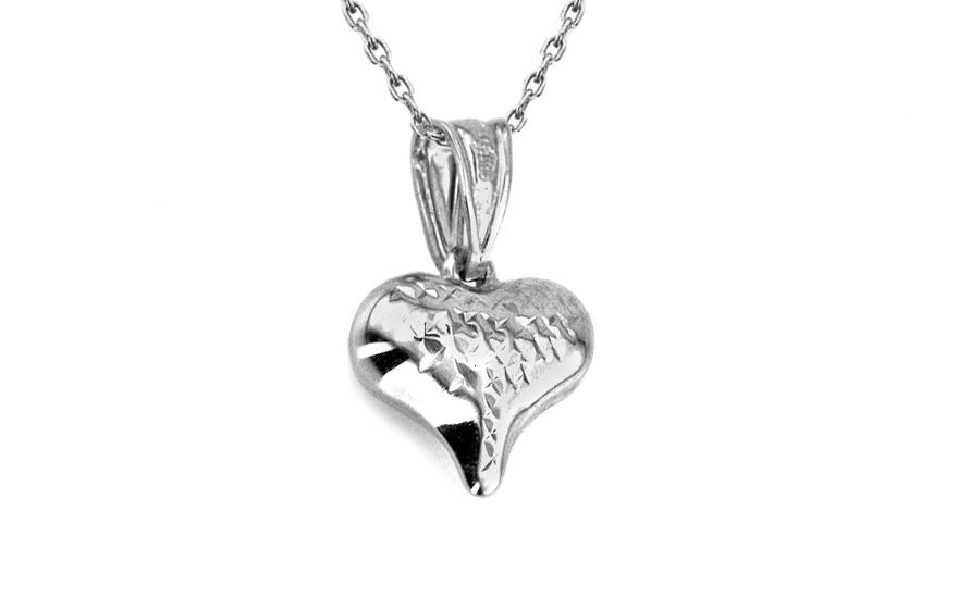 Zlatý přívěsek charm srdce white IZ3458