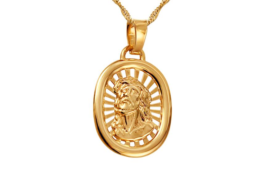 Zlatý přívěsek Ježíš Kristus IZ10644