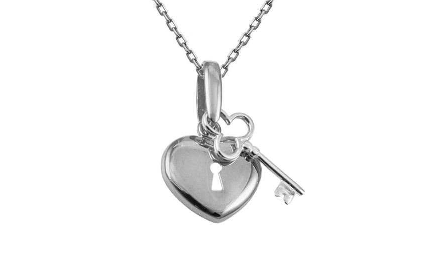 Zlatý přívěsek Klíč k srdci IZ10448A