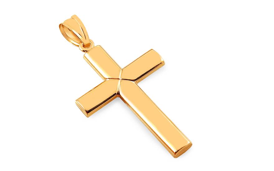Zlatý přívěsek kříž IZ10486
