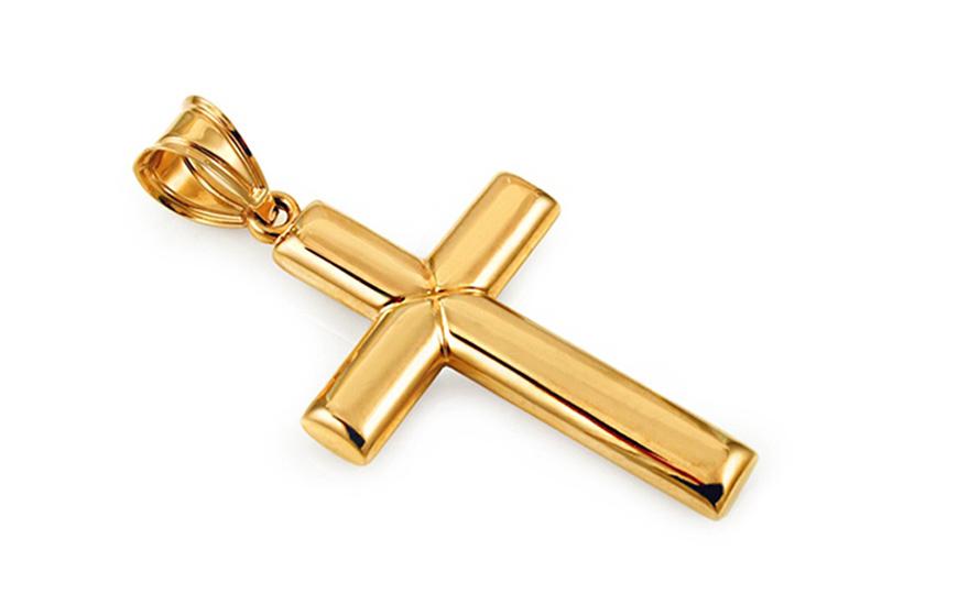 Zlatý přívěsek kříž IZ10486M