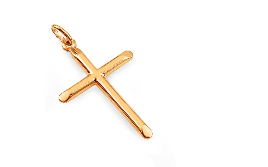 Zlatý přívěsek kříž IZ13055