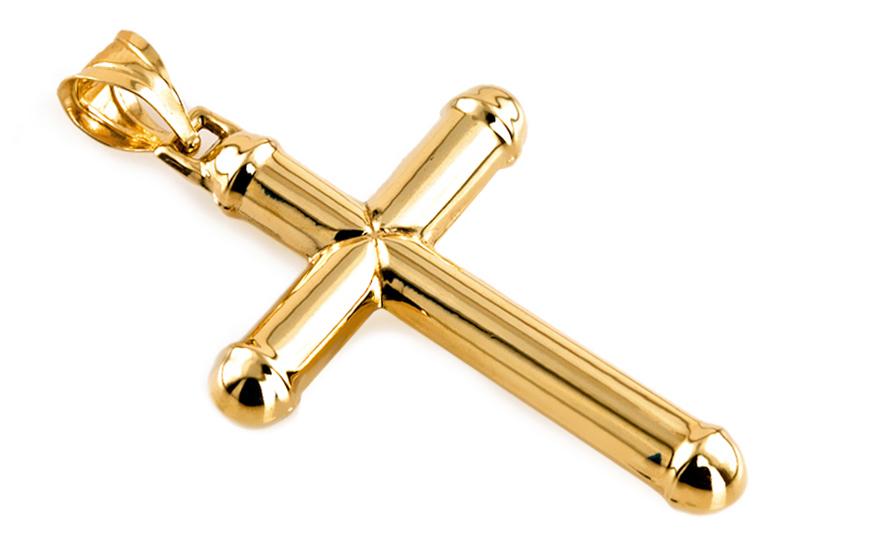 Zlatý přívěsek křížek IZ6447
