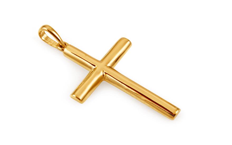 Zlatý přívěsek křížek IZ10495