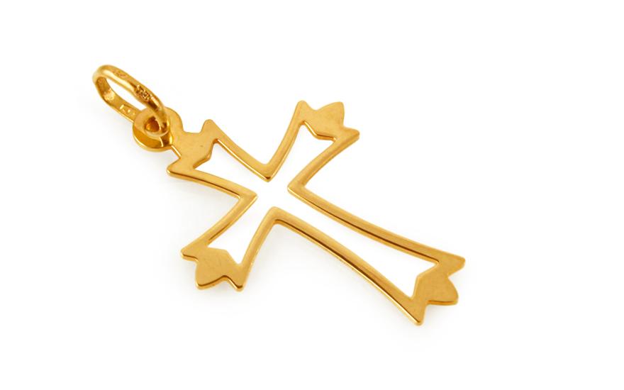 Zlatý přívěsek křížek IZ10501