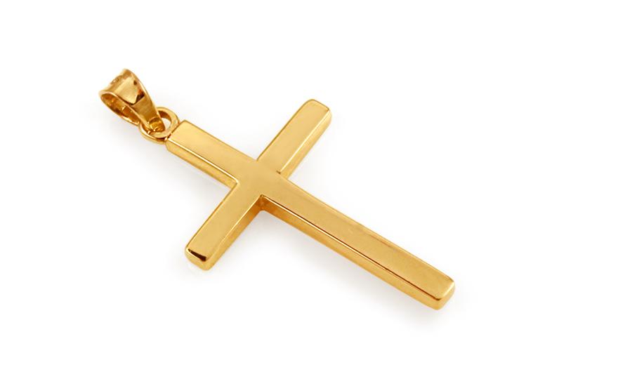 Zlatý přívěsek křížek IZ10509