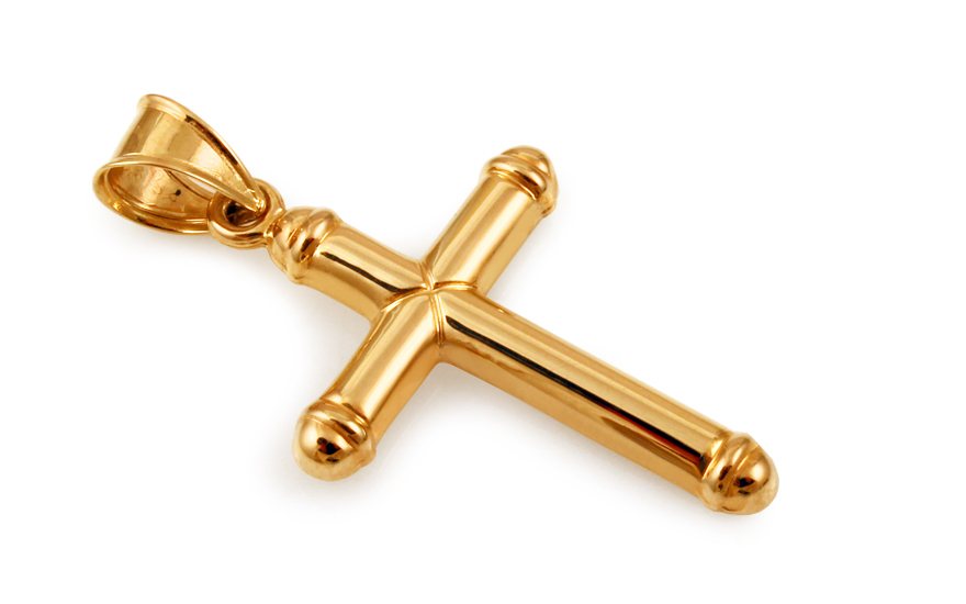 Zlatý přívěsek křížek IZ10502