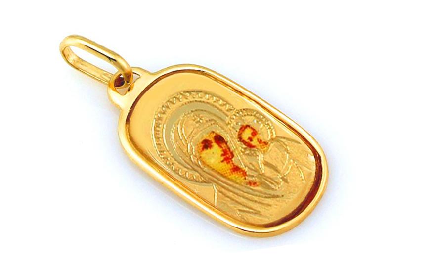 Zlatý přívěsek madonka s dítětem IZ8424