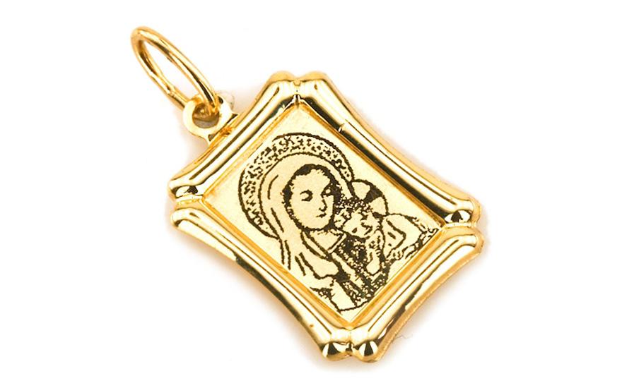 Zlatý přívěsek panna MÁRIA s Ježíškem IZ5144