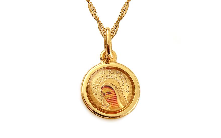 Zlatý přívěsek panna Marie IZ3719
