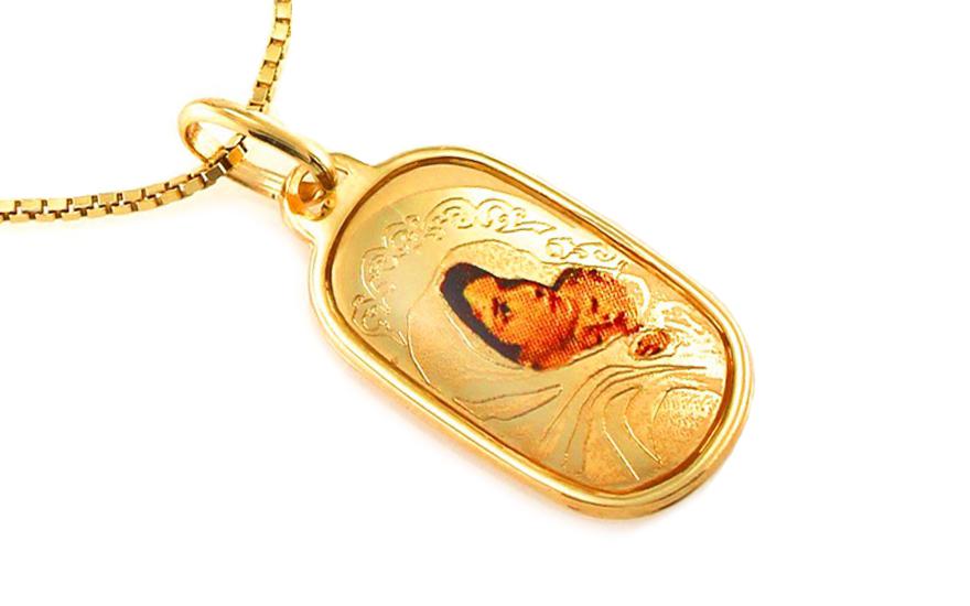 Zlatý přívěsek Panna Marie s Ježíškem IZ8425