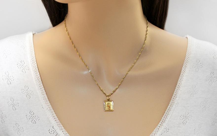 Zlatý přívěsek Panna Marie s Ježíškem v náruči IZ8427