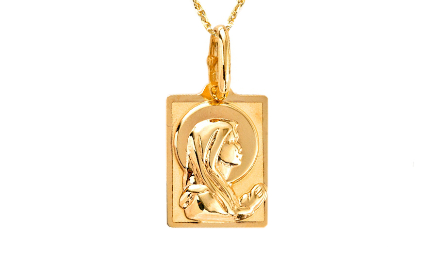 Zlatý přívěsek Panny Marie IZ7626
