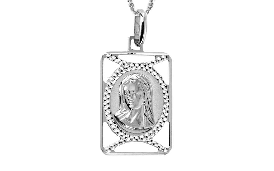 Zlatý přívěsek Panny Marie white IZ7520A