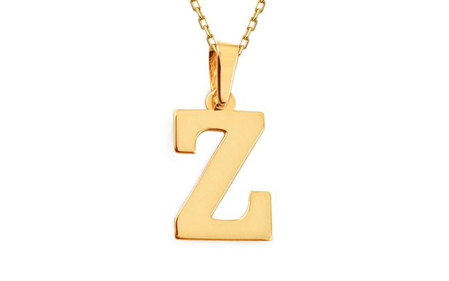 Zlatý přívěsek písmeno Z IZ11562