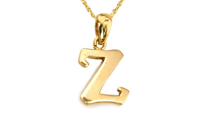 Zlatý přívěsek písmeno Z KOPE357