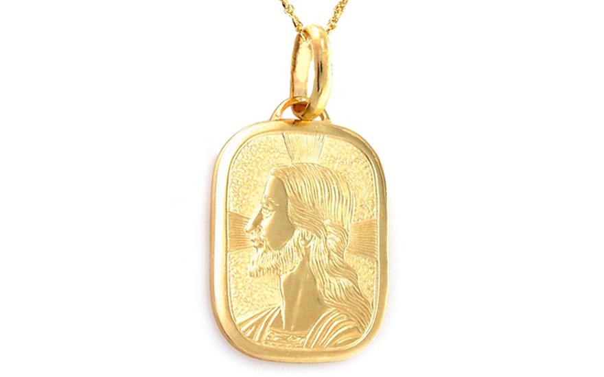 Zlatý přívěsek s Ježíšem IZ8653