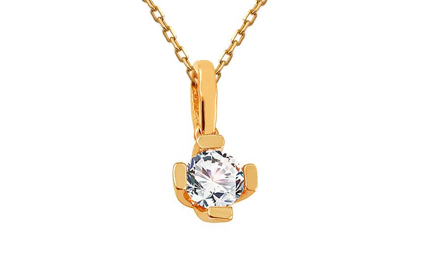Zlatý přívěsek se zirkonem Dalisia IZ13013P