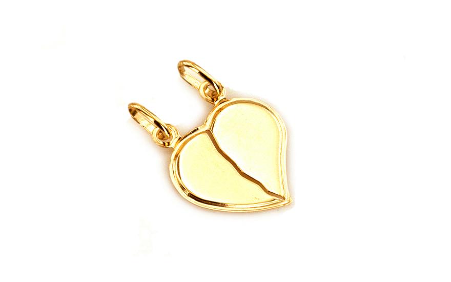Zlatý přívěsek srdce pro dva IZ4628
