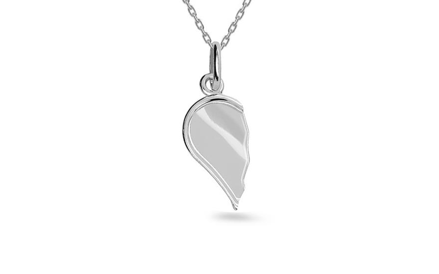 Zlatý přívěsek srdce pro dva IZ4629