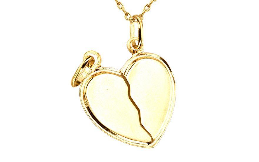 Zlatý přívěsek srdce pro dva IZ4633