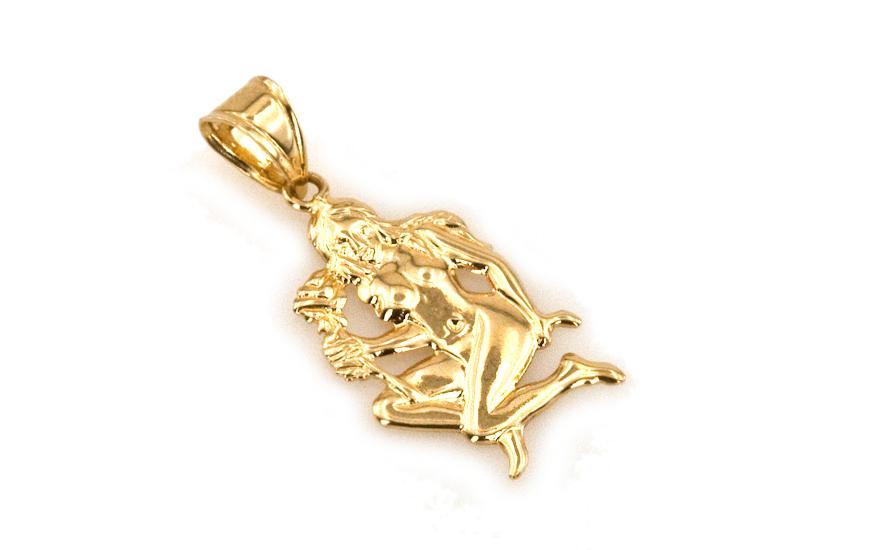 Zlatý přívěsek znamení Panna IZ3987
