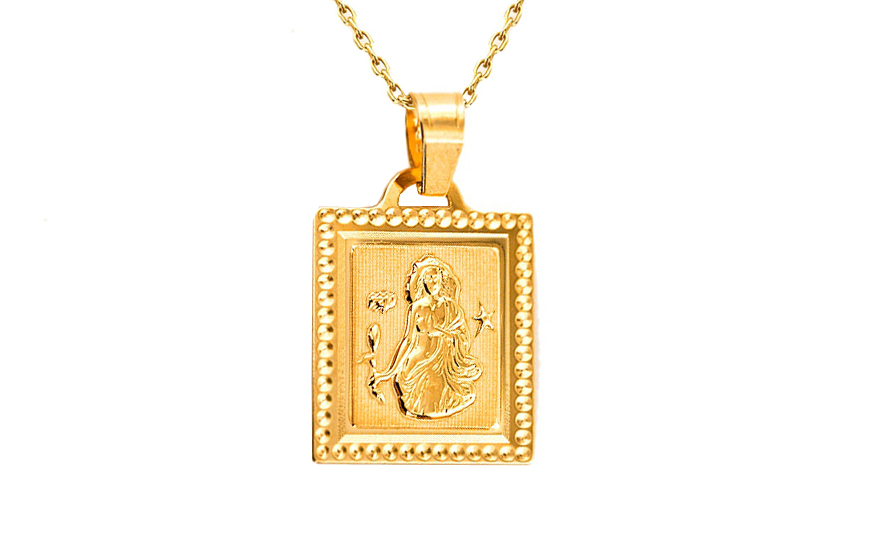 Zlatý přívěsek znamení Panna IZ7408