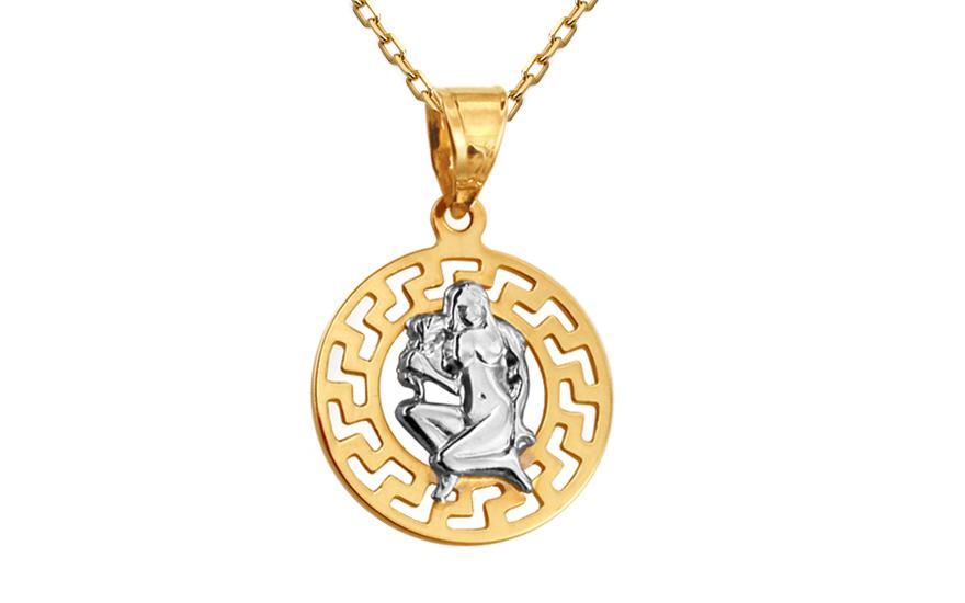 Zlatý přívěsek znamení Panna kombinovaný IZ10475