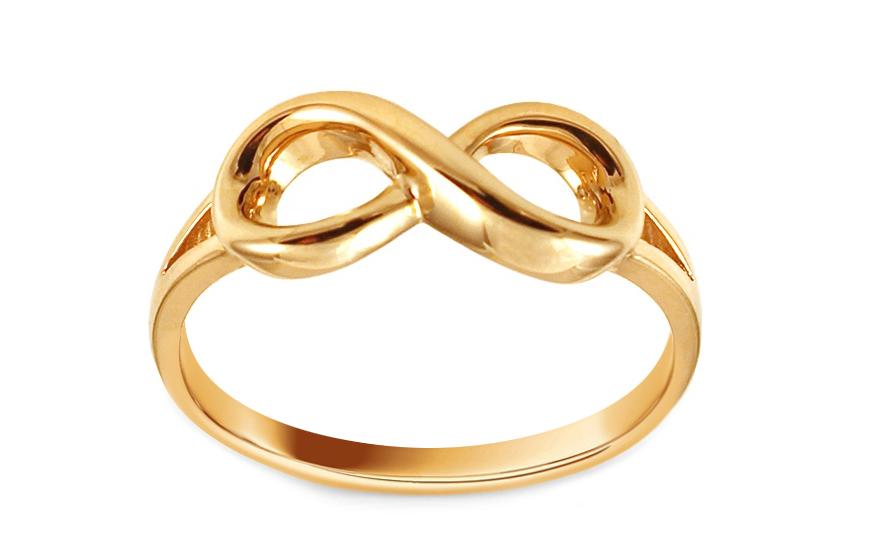 Zlatý prsten nekonečno IZ10784