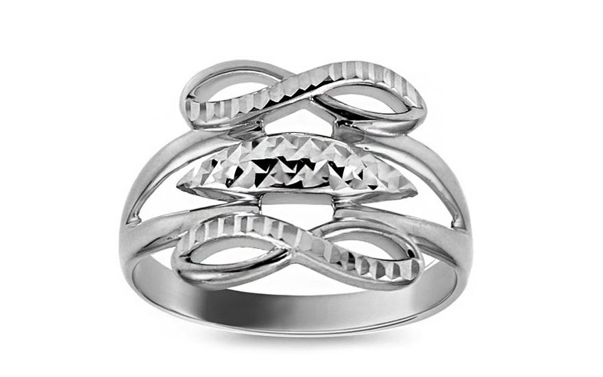 Zlatý prsten nekonečno s gravírováním IZ10724A