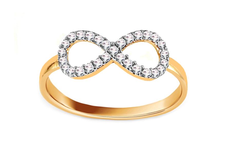Zlatý prsten nekonečno se zirkony IZ12561
