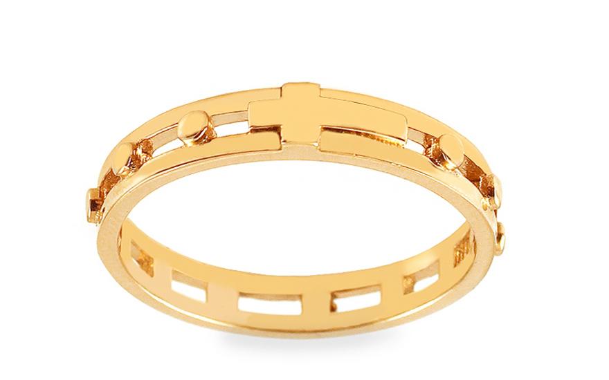Zlatý prsten růženec IZ12563