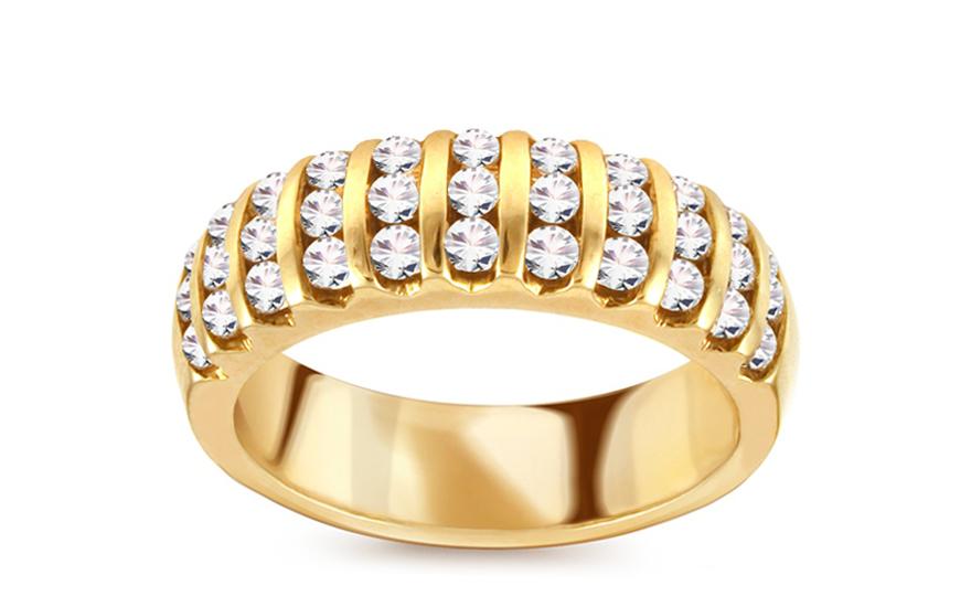 Zlatý prsten s brilianty 0,800 ct KU333