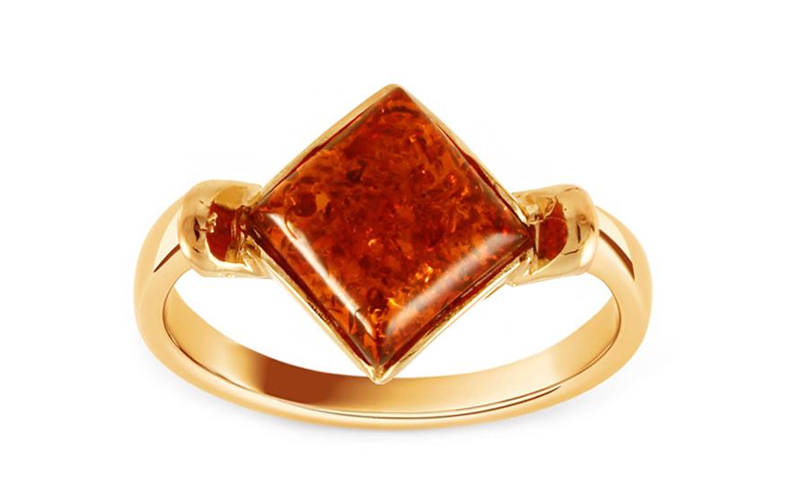 Zlaty Prsten S Jantarem Amber Pro Zeny Iz9187 Izlato24 Cz