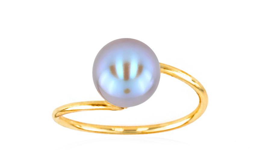Zlatý prsten s perlou Loreta 2 79ebeab9af8