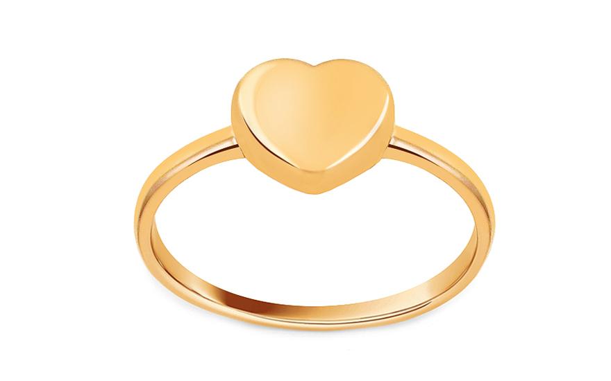 Zlatý prsten se srdcem IZ13312