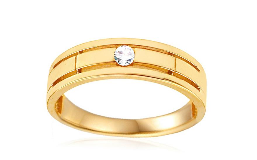 Zlatý prsten se zirkonem IZ10782