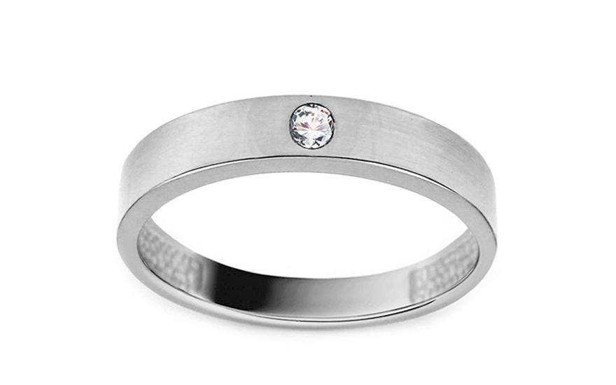 Zlatý prsten se zirkonem IZ11383A